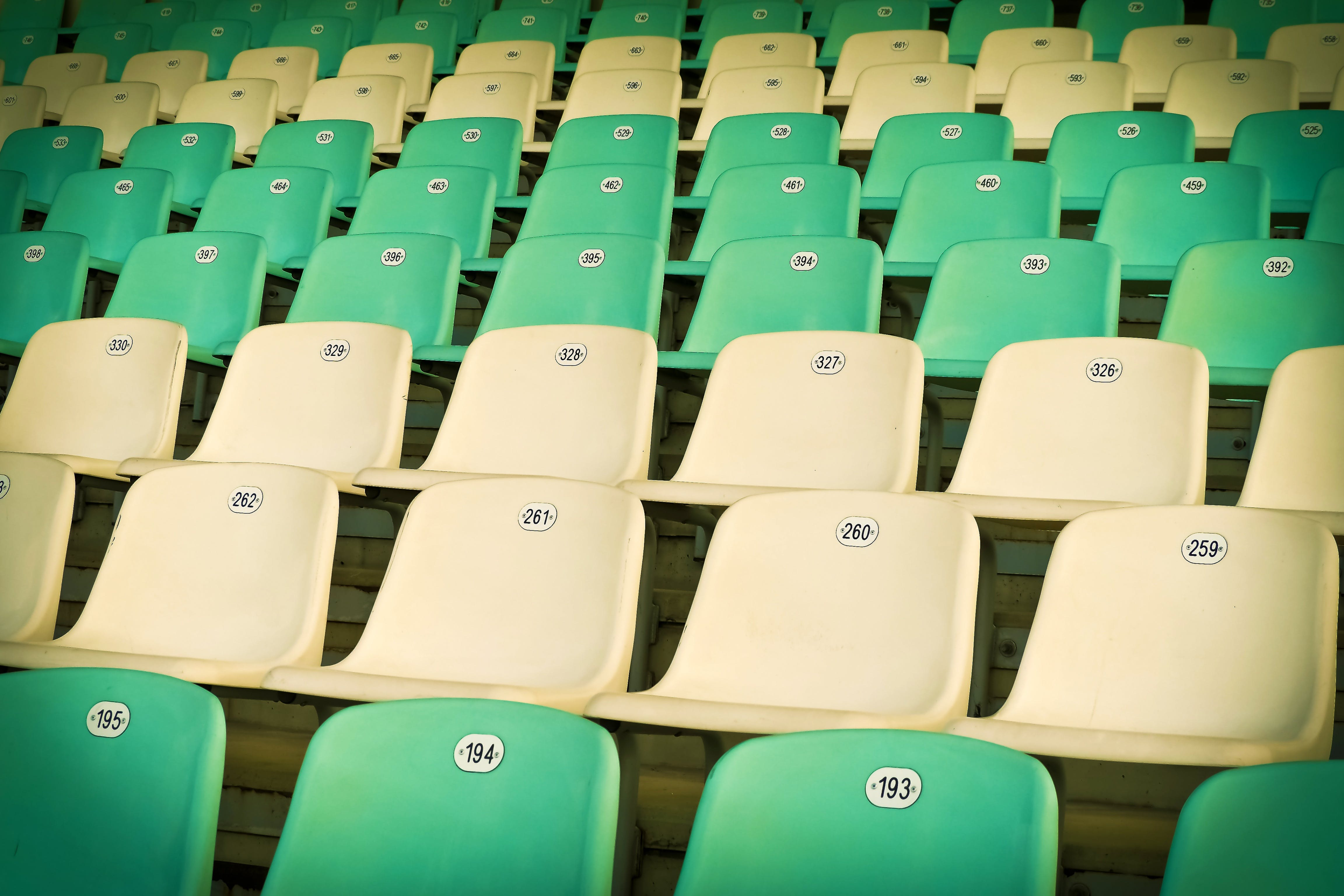 White and Teal Chairs
