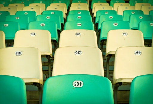 Free stock photo of pattern, row, chairs, seat