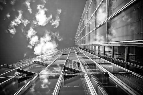 Imagine de stoc gratuită din alb-negru, arhitectură, clădire, creștere mare