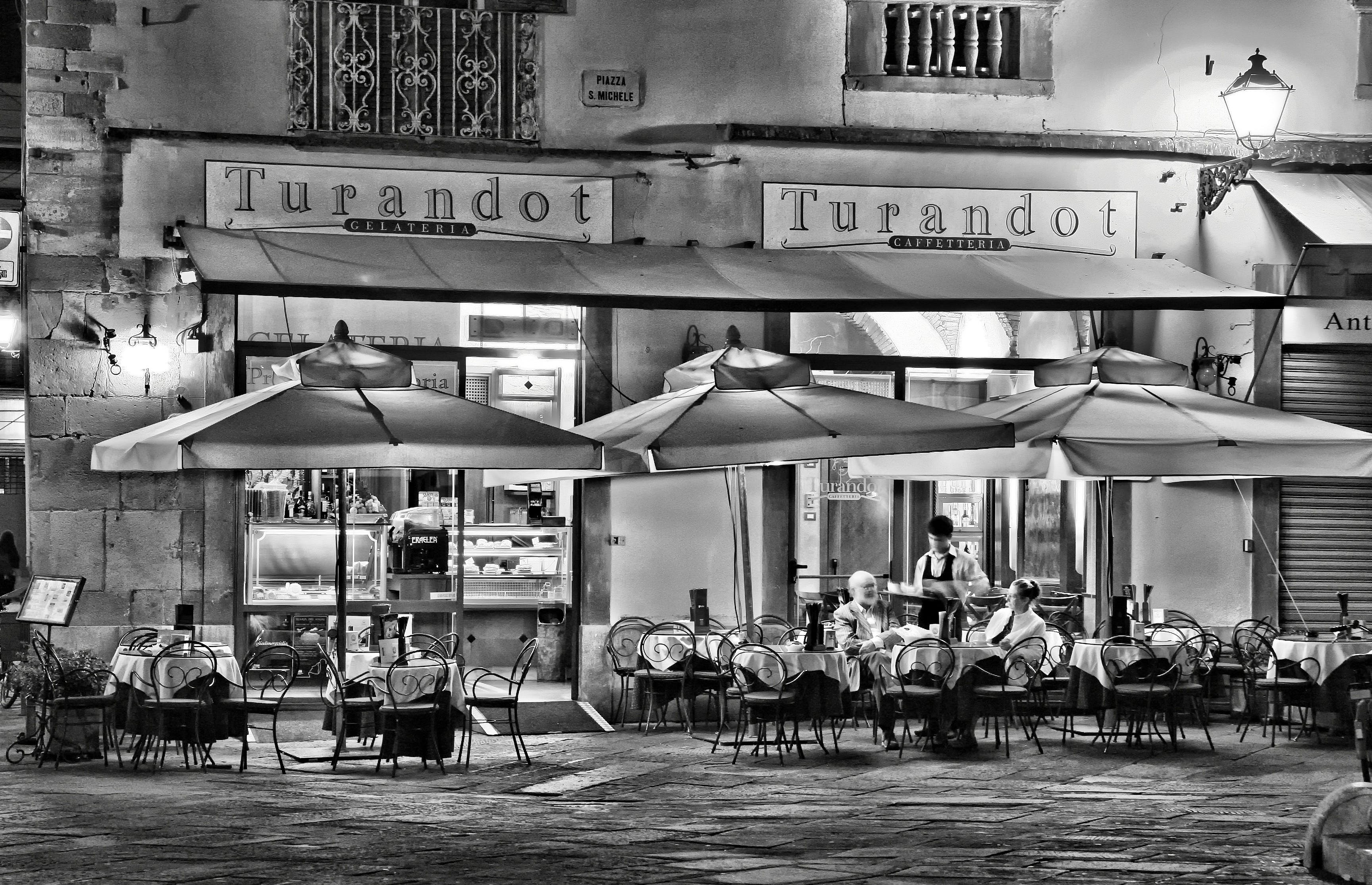 People Eating Outside Turandot Cafe