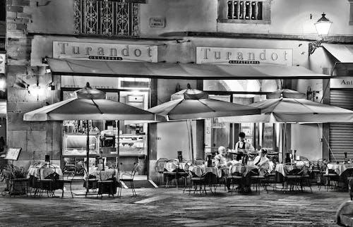 People Eating Outside Turandot Cafe
