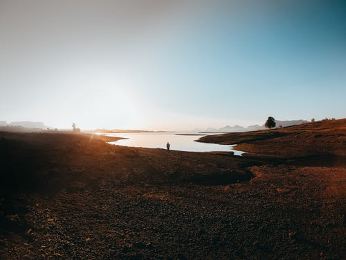 Imagine de stoc gratuită din amurg, contur, lac, natură