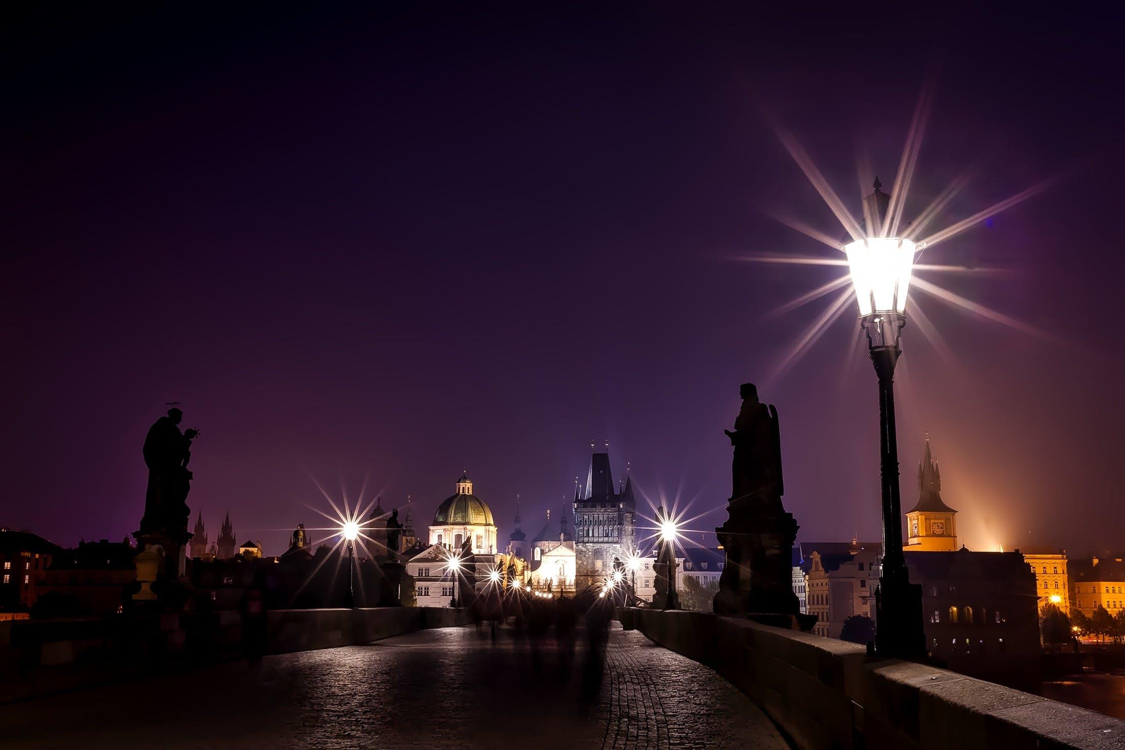 Free stock photo of bridge, buildings, city, czech republic