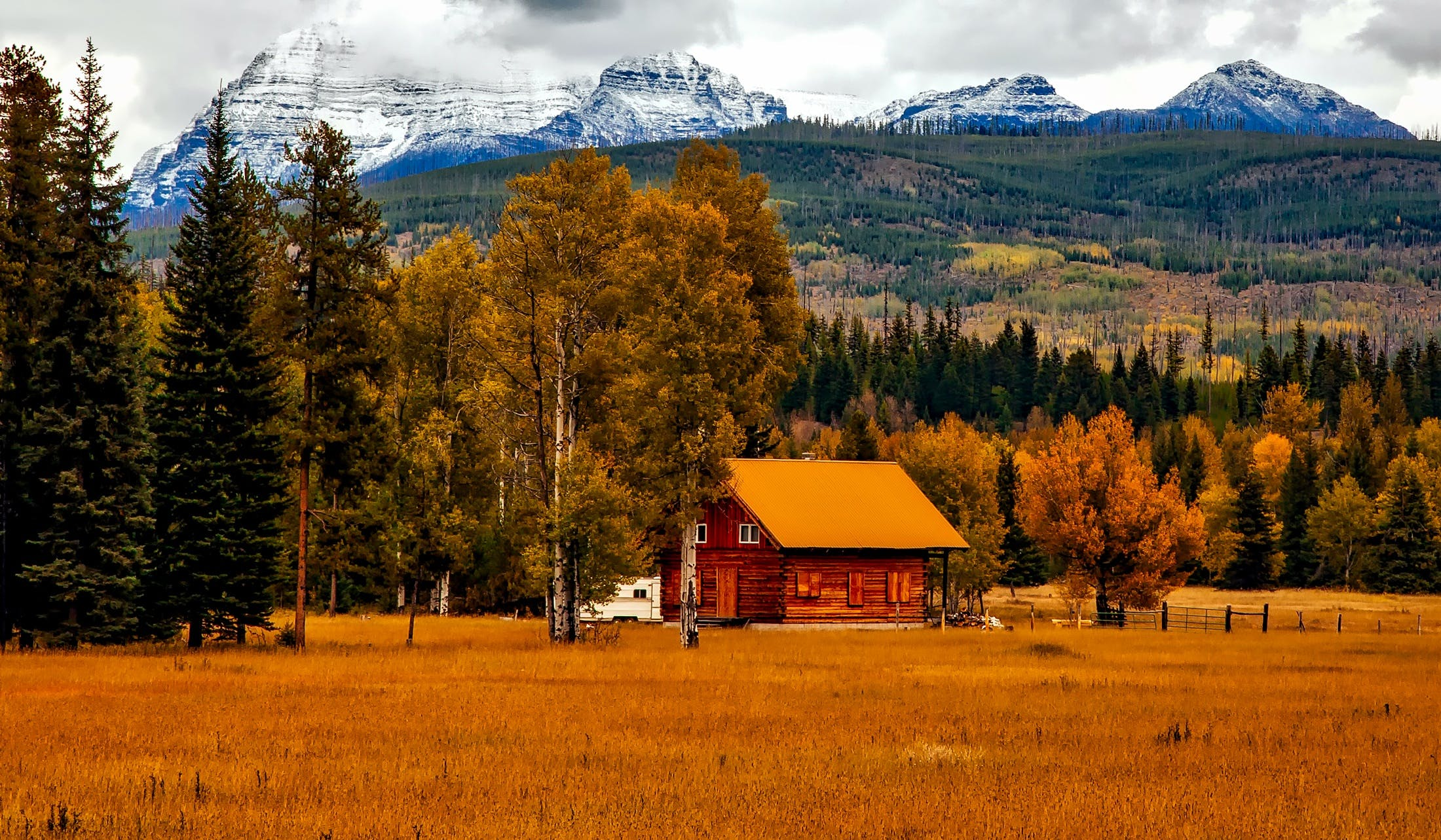 autumn, barn, colorado