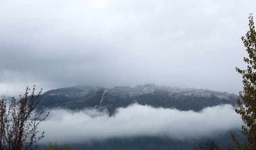 Free stock photo of alpine, chalet, clouded, cloudy