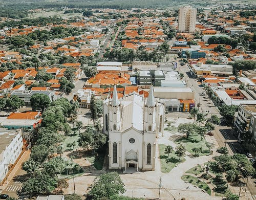 Aerial Shot Of Church