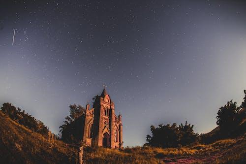 akşam, bakış açısı, gökyüzü, kilise içeren Ücretsiz stok fotoğraf