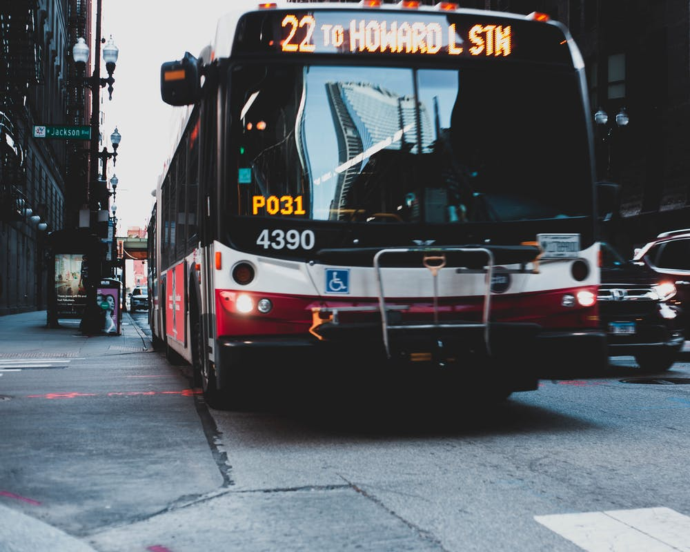 Bus on the road. | Photo: Pexels