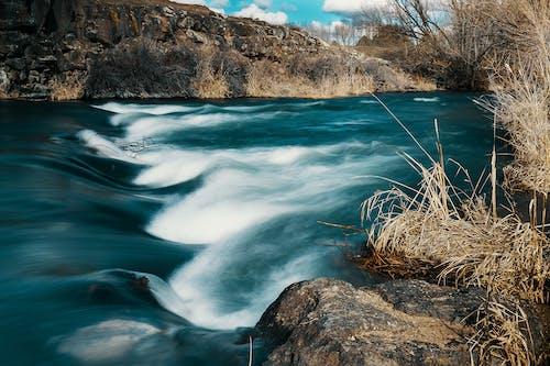 Základová fotografie zdarma na téma dlouhá expozice, řeka, vodní plocha