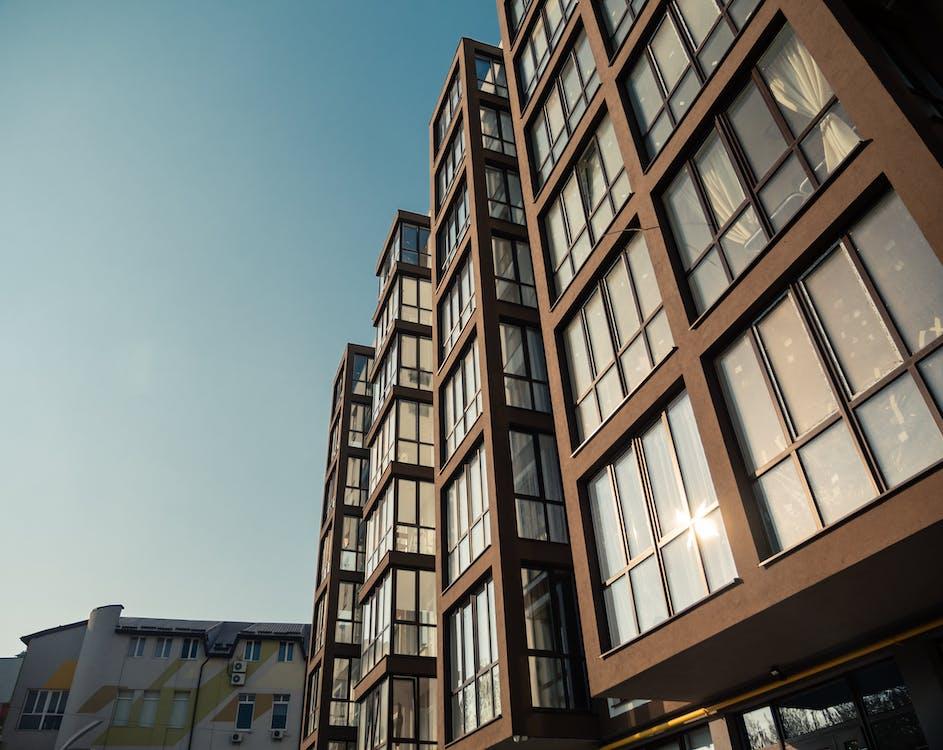 architektur, aufnahme von unten, fassade