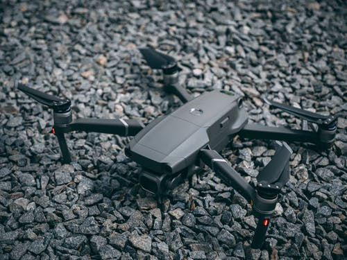 Gray Quadcopter Drone