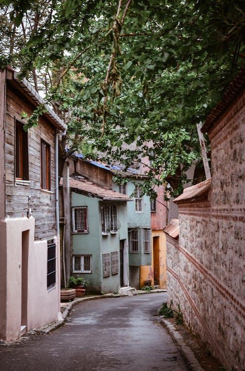 Kostnadsfri bild av arkitektur, gata, gränd, hus