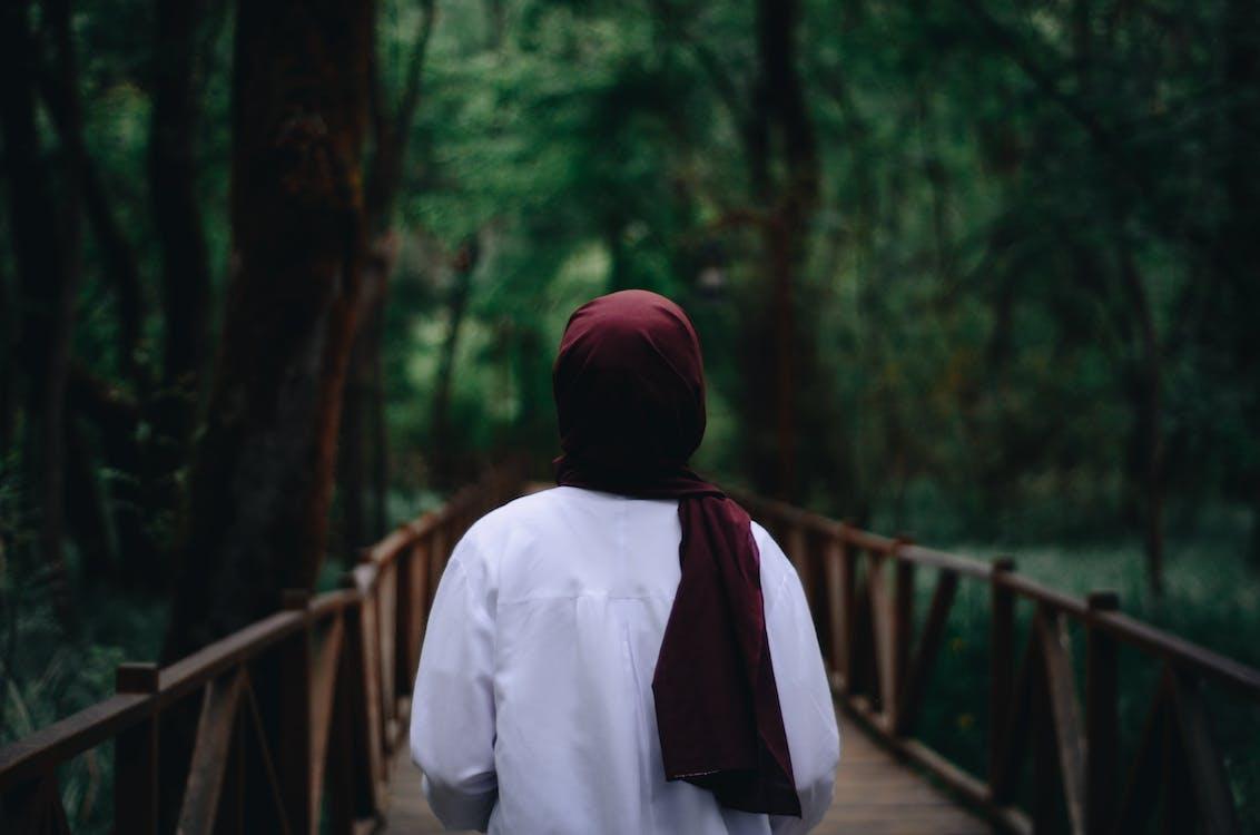 Woman Wearing Red Hijab