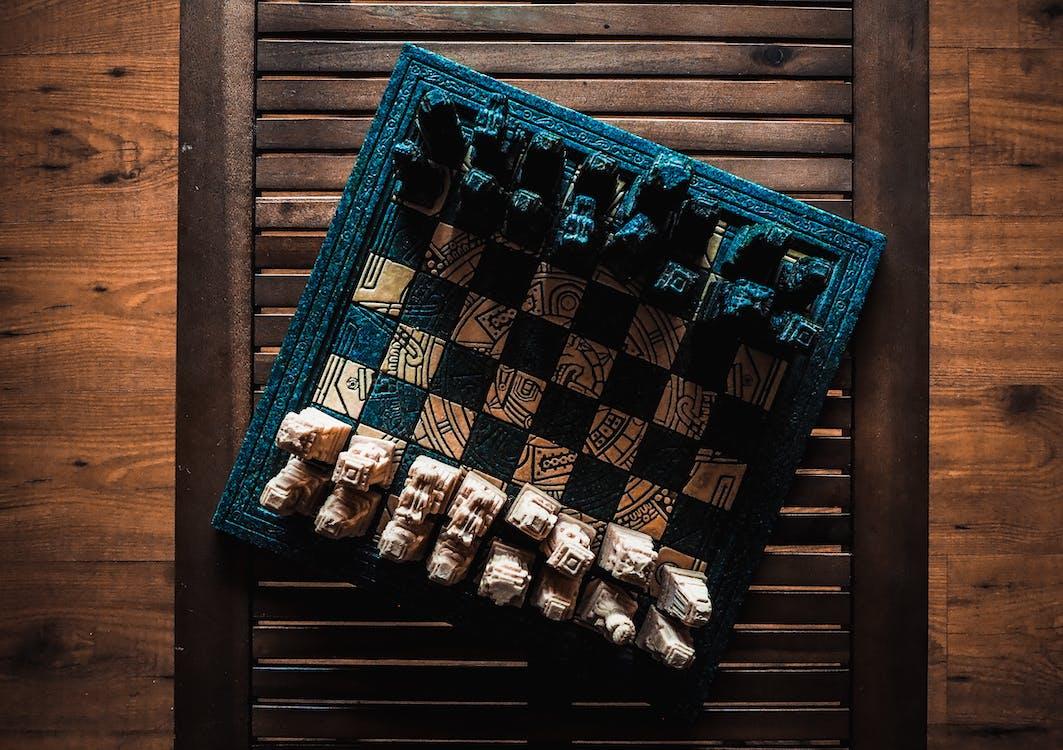 Black and Beige Chessboard Set