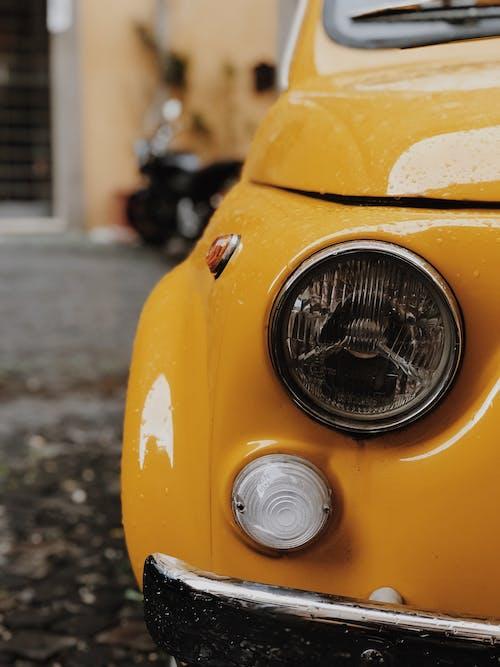 Fotos de stock gratuitas de amarillo, automotor, automóvil, clásico