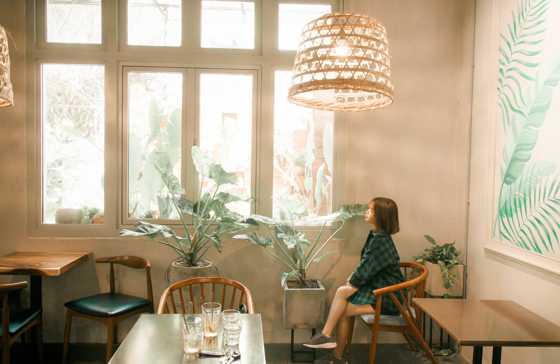 Diseño de cafetería mediterráneo