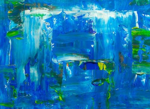 Gratis arkivbilde med abstrakt, abstrakt ekspresjonisme, abstrakt maleri, akrylmaleri