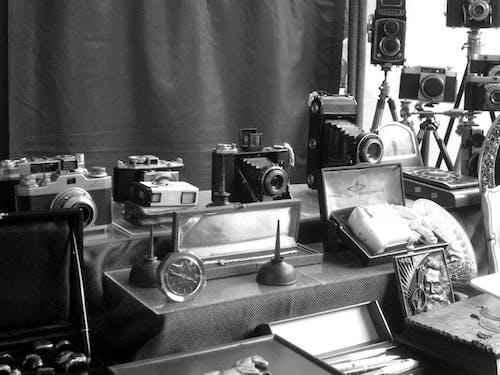 Darmowe zdjęcie z galerii z camers, czarno-biały, starożytny