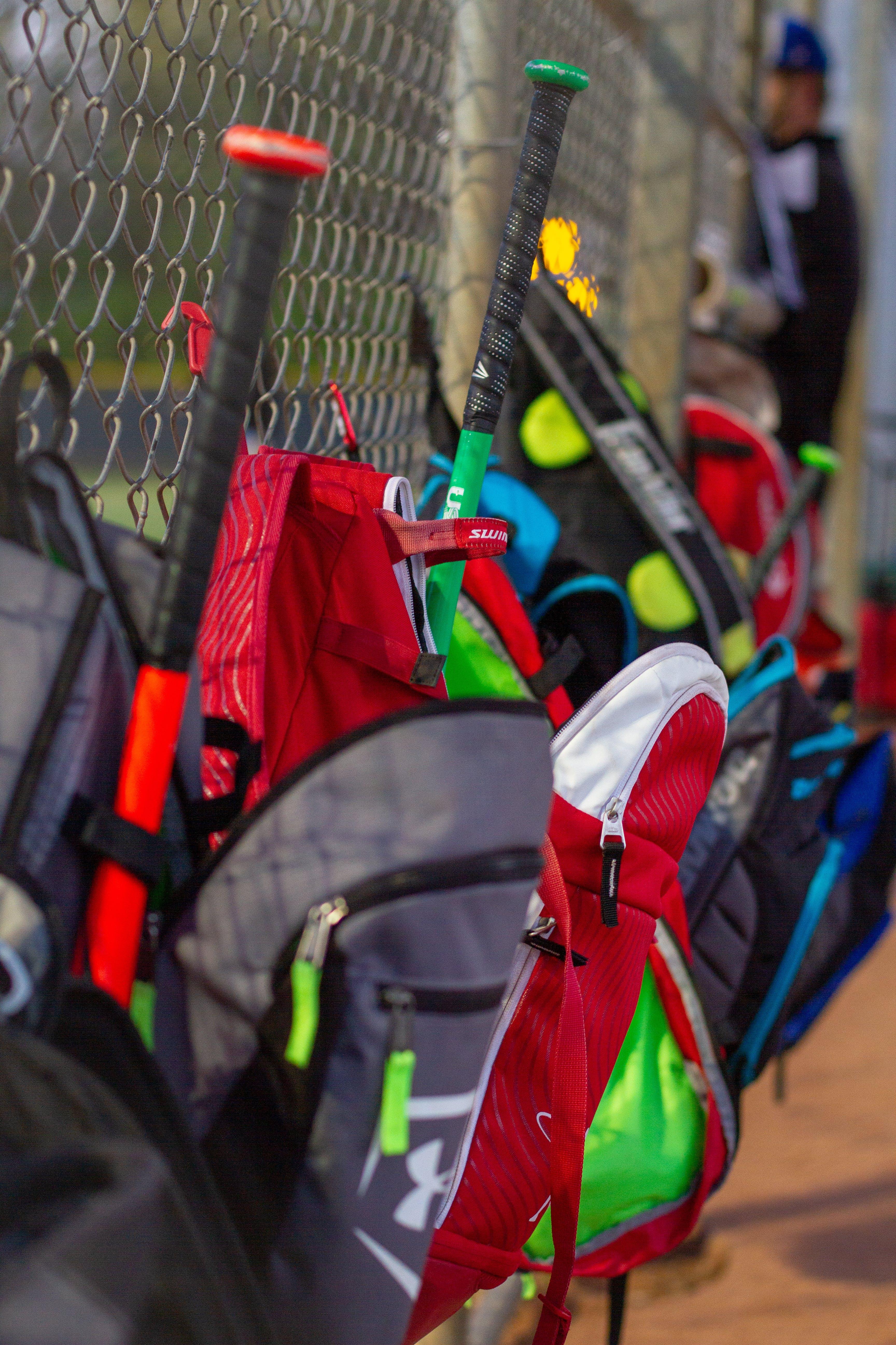 Free stock photo of bag, bags, baseball, baseball bags