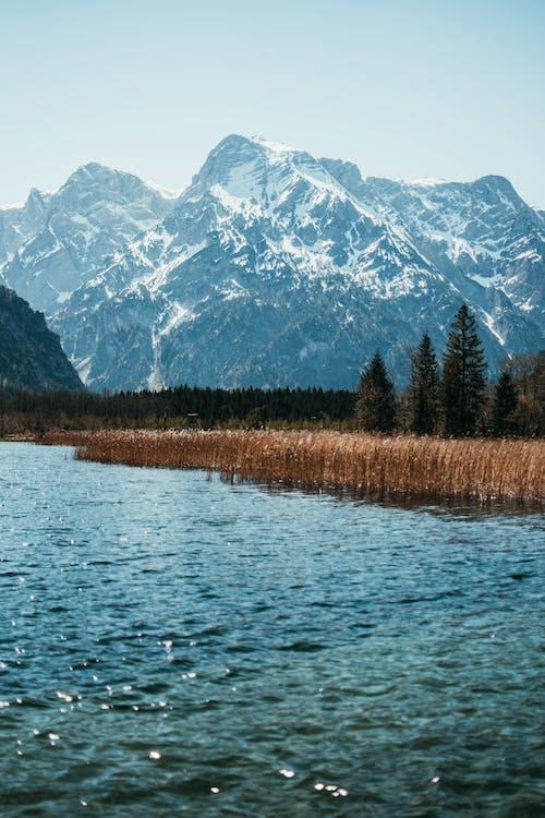 屋外, 山, 水, 湖の無料の写真素材