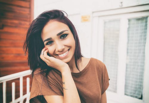 Woman Smiling on Focus Photography