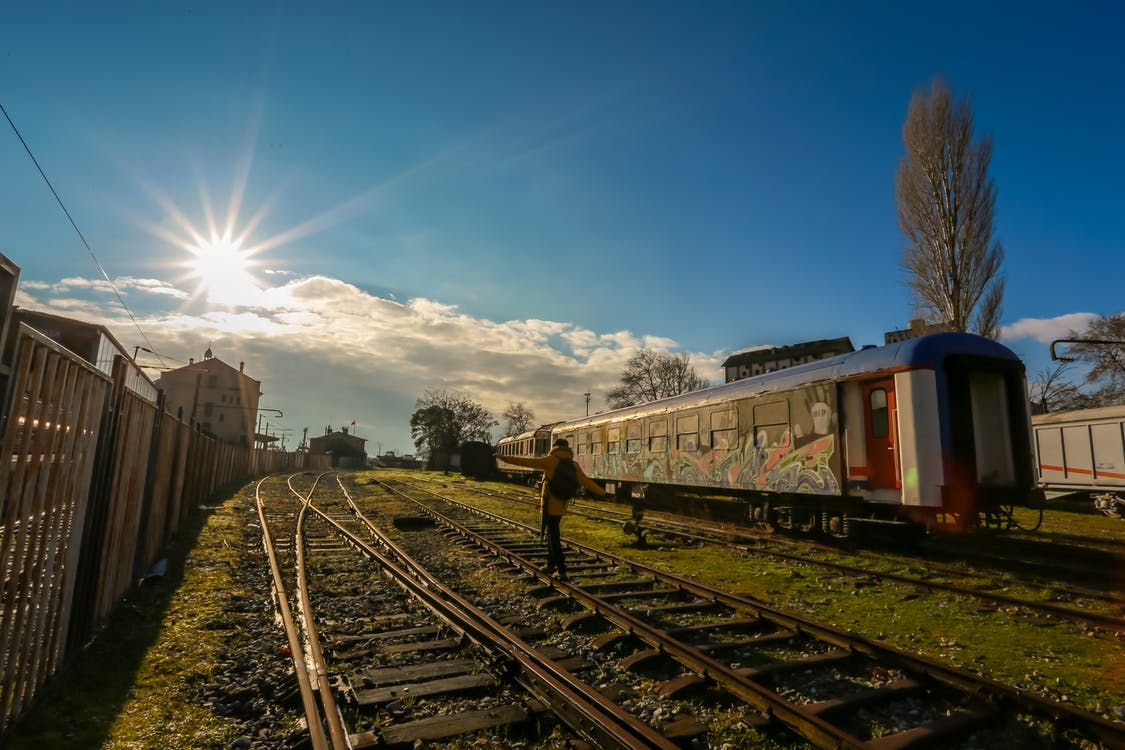 acél, állomás, fény
