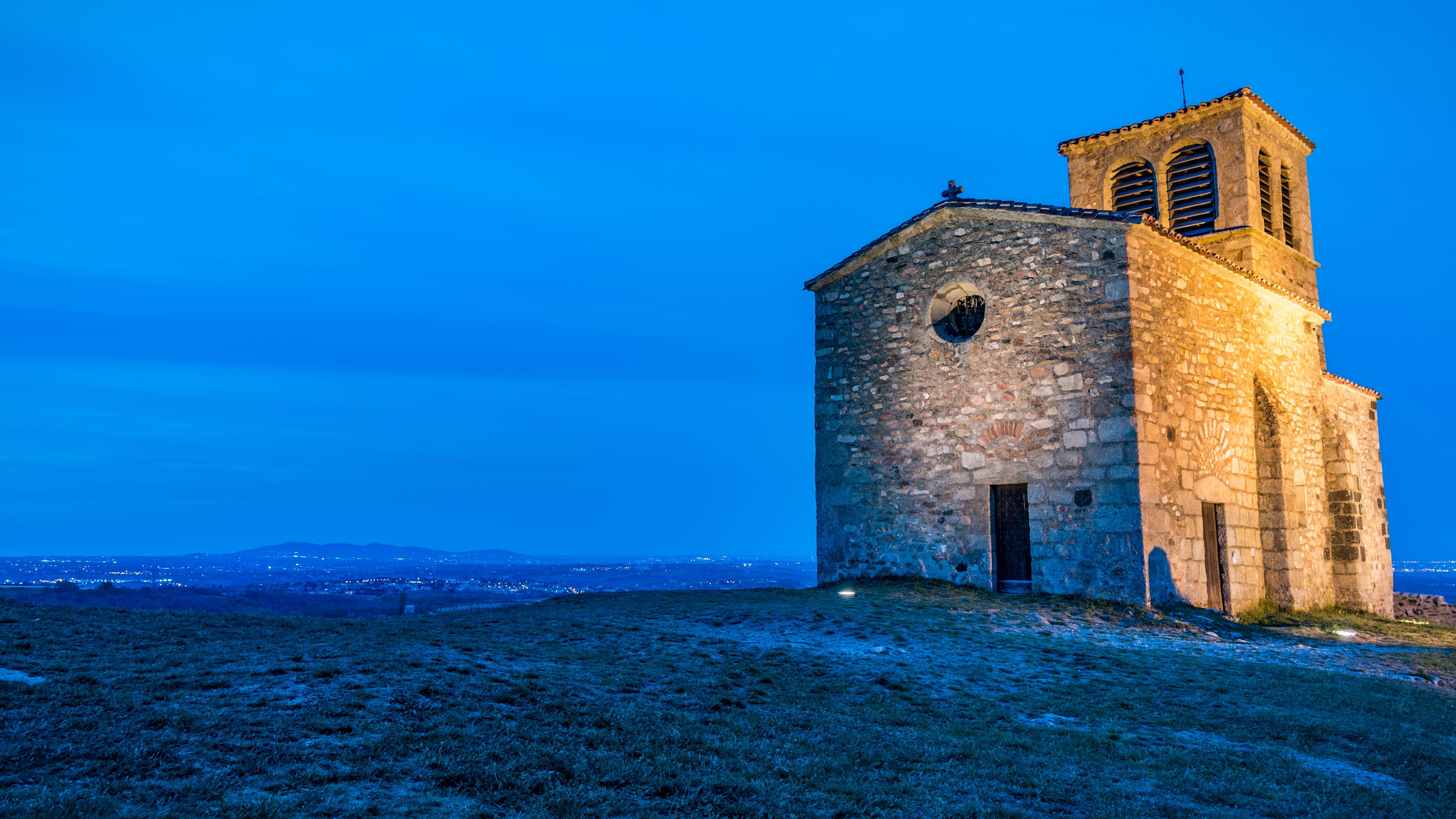Free stock photo of blue hour, bluehour, chapelle, chapelle saint-vincent