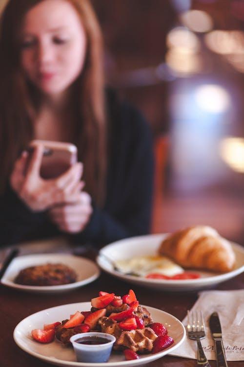 Kostnadsfri bild av frukost, jordgubbar, måltid, mat