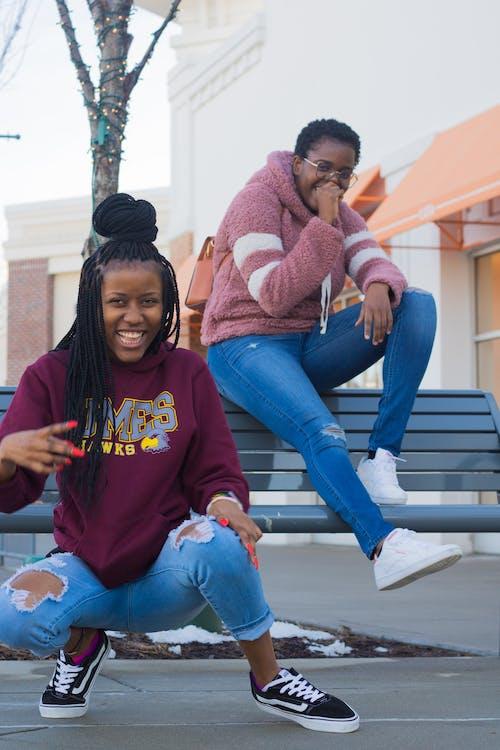 女人, 幸福, 幸福的黑女人, 微笑 的 免费素材照片