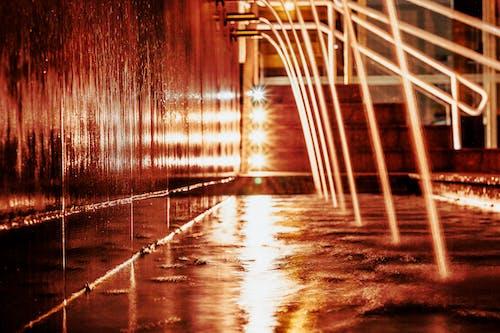 Foto profissional grátis de água, anoitecer, cidade da noite, exposição longa
