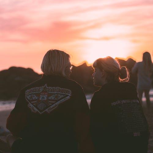 愛, 日落, 海水 的 免費圖庫相片