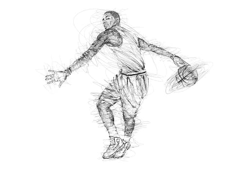 Free stock photo of art, basket ball, black and white, kyrie irving