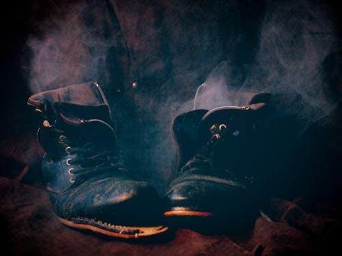 Free stock photo of blue, boots, smoke, smoking boots
