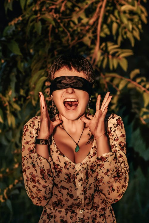 Screaming Woman Being Blind Folded