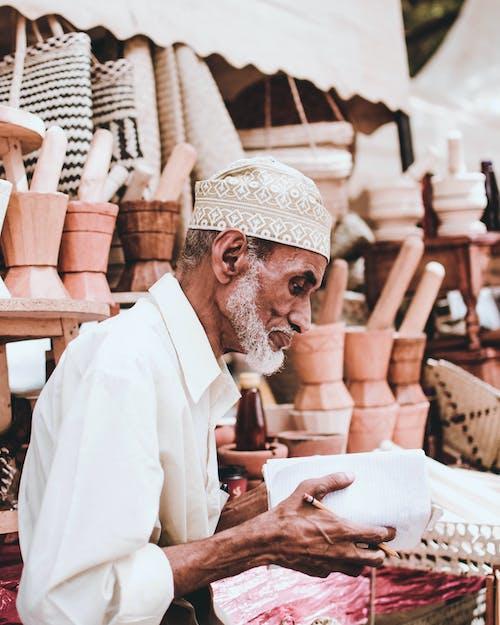 남자, 노인, 노점상, 수공예의 무료 스톡 사진