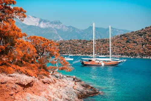 Kostnadsfri bild av båt, berg, dagsljus, falla