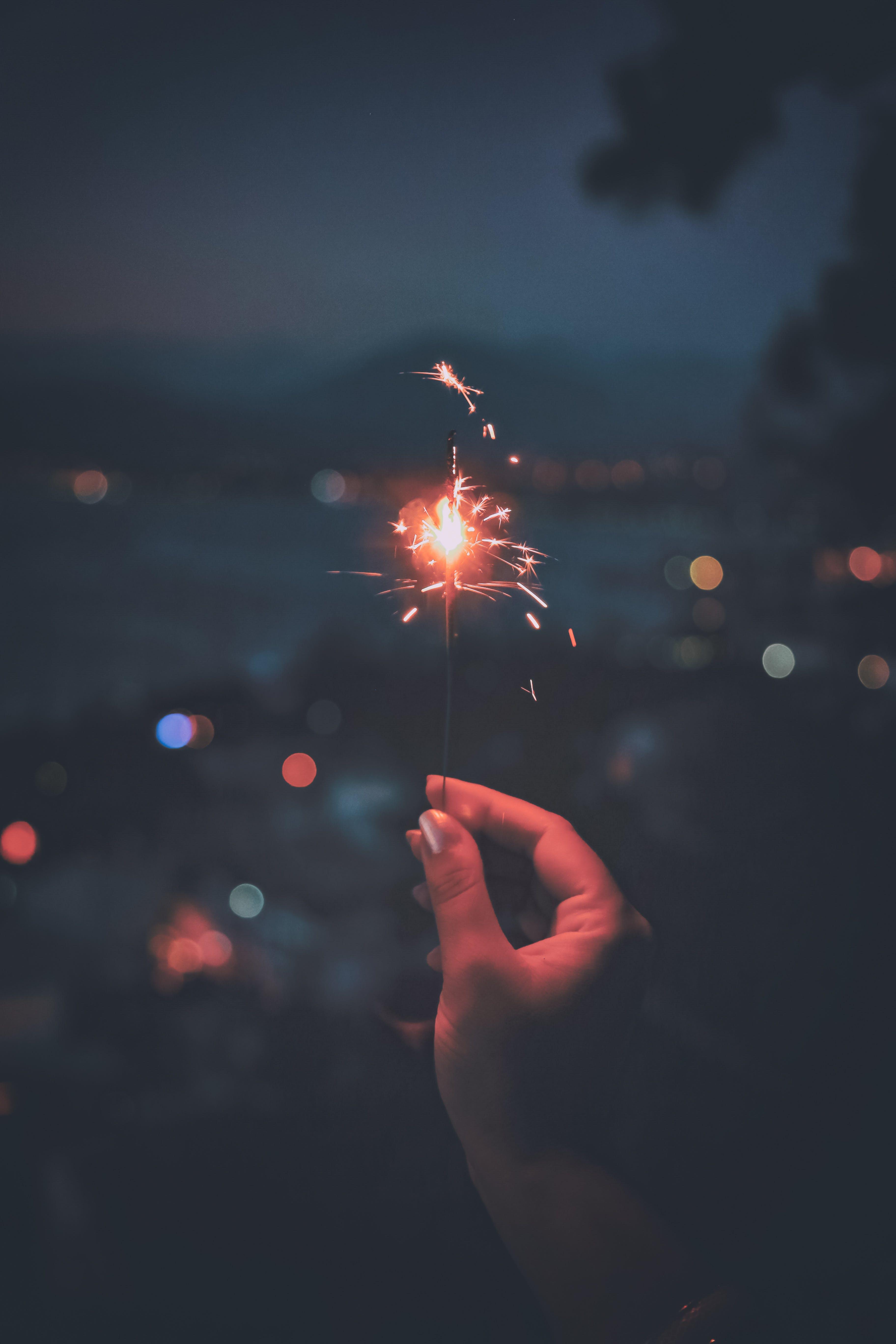 Základová fotografie zdarma na téma firecracker, lehký, noc, ohňostroj