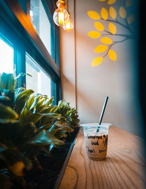 乾草, 光, 光線, 冰咖啡 的 免费素材照片