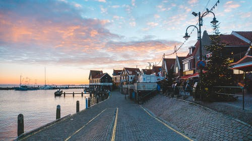 Ảnh lưu trữ miễn phí về điểm đến du lịch, Hoàng hôn, nước Hà Lan, volendam