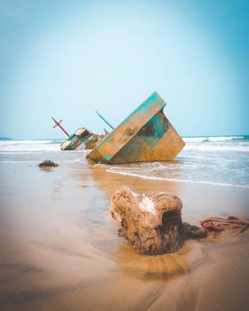 Ảnh lưu trữ miễn phí về bờ biển, mắc kẹt, thuyền