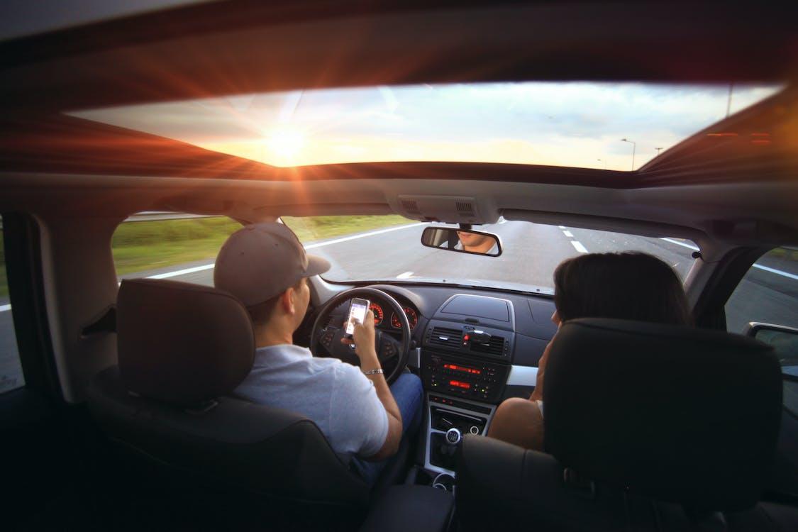 afgeleid, auto, autorijden