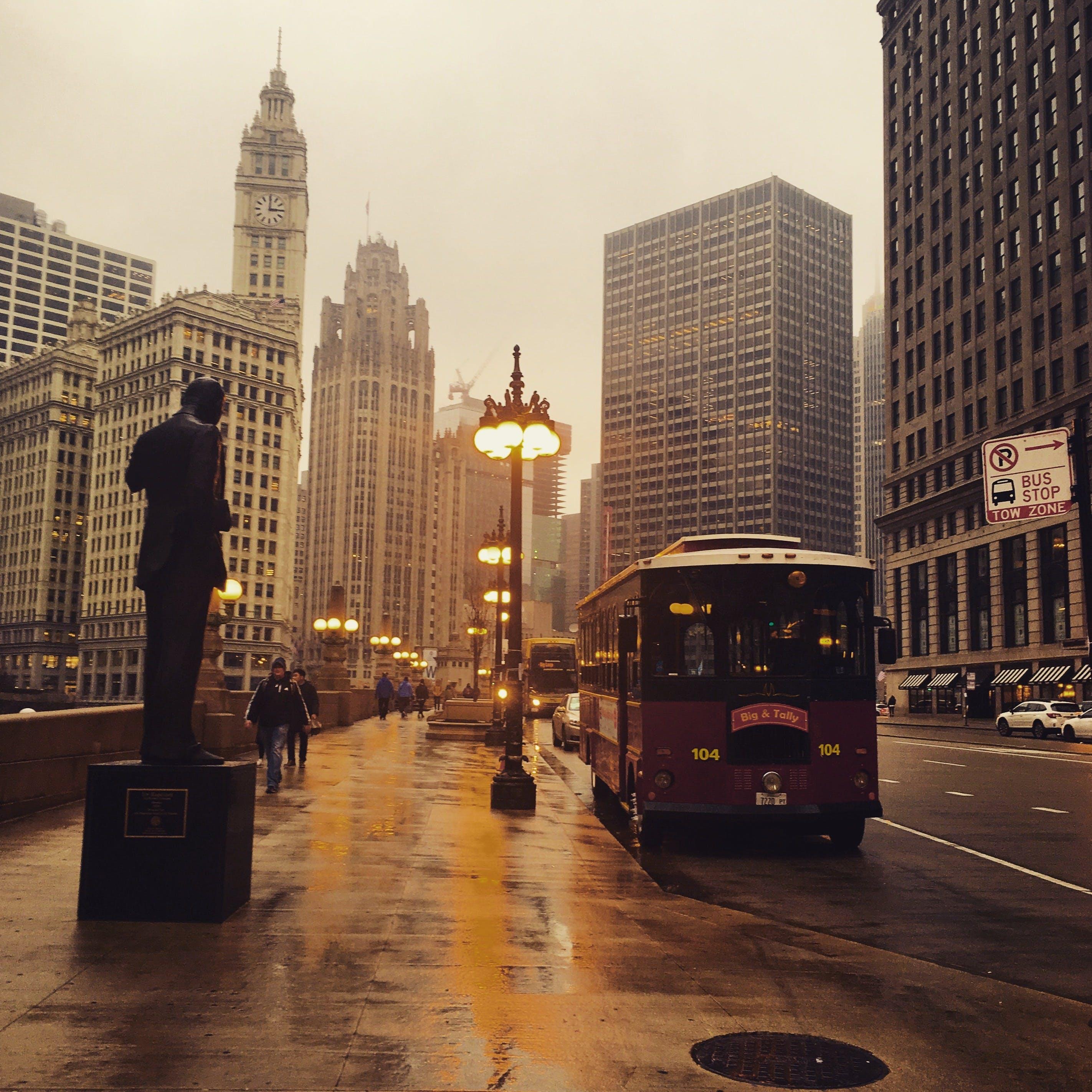 シカゴ, シティ, スカイライン, ダウンタウンの無料の写真素材