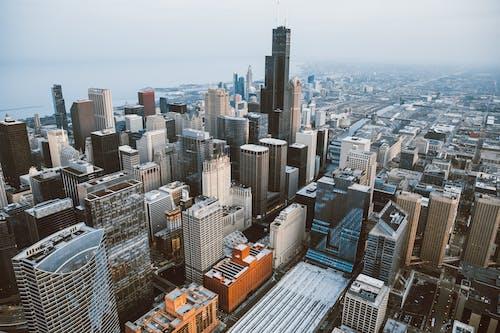 Безкоштовне стокове фото на тему «аерознімок, архітектура, будівлі, вежа»
