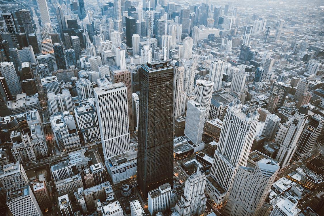 arquitetura, arranha-céu, cidade