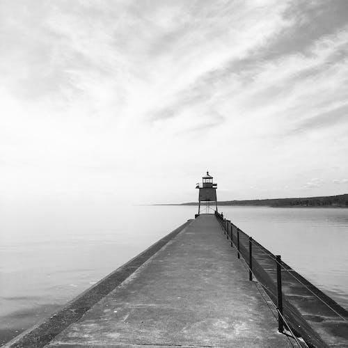 Δωρεάν στοκ φωτογραφιών με b&w, noir et blanc, phare, Αμερική
