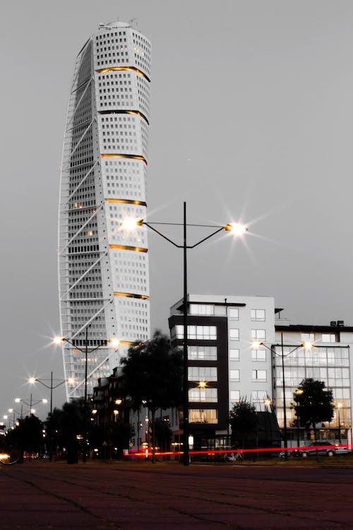 グレー, シティ, ダウンタウン, タワーの無料の写真素材