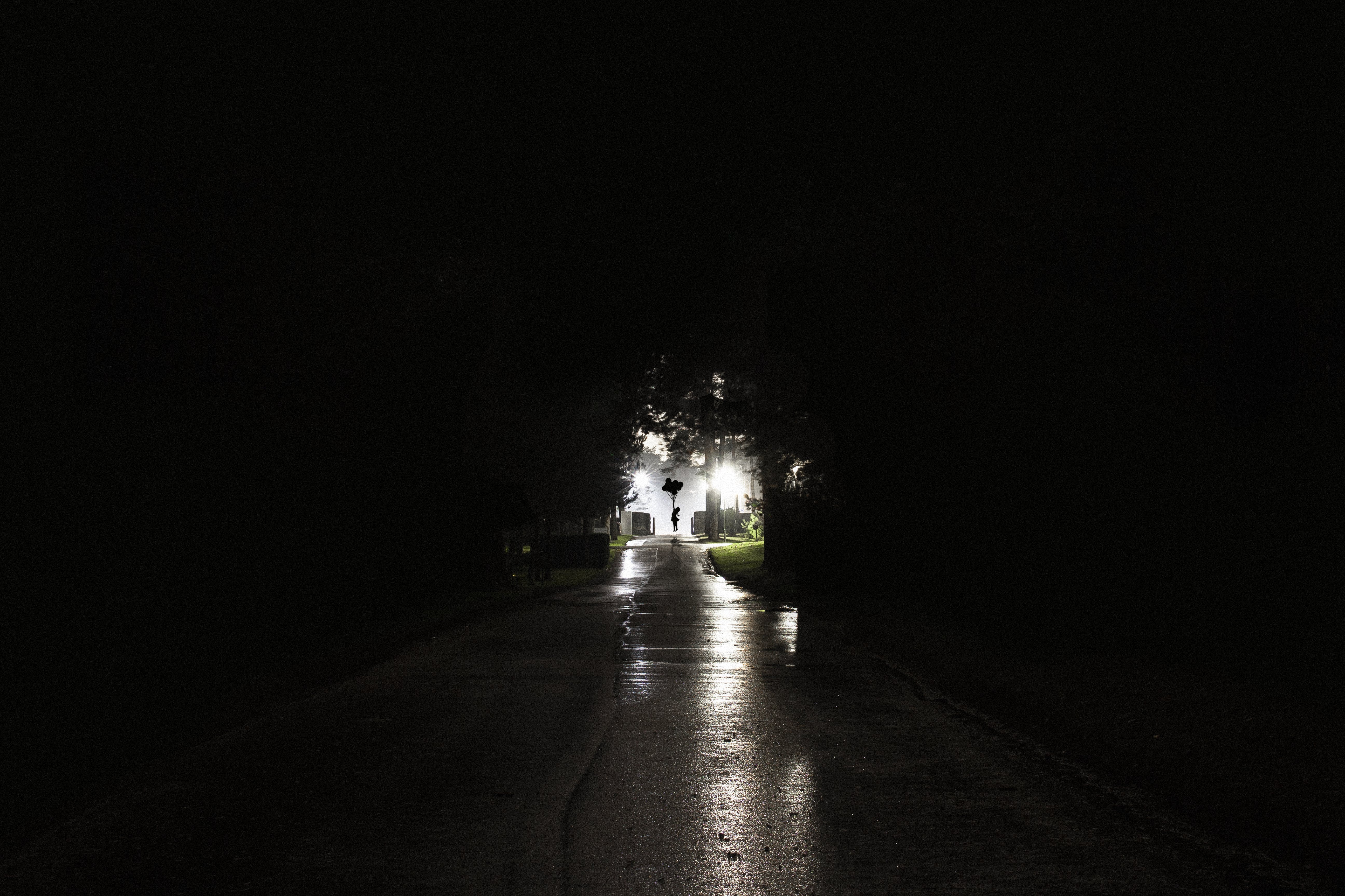 Free stock photo of cemetery, dark, darkness, electric lights