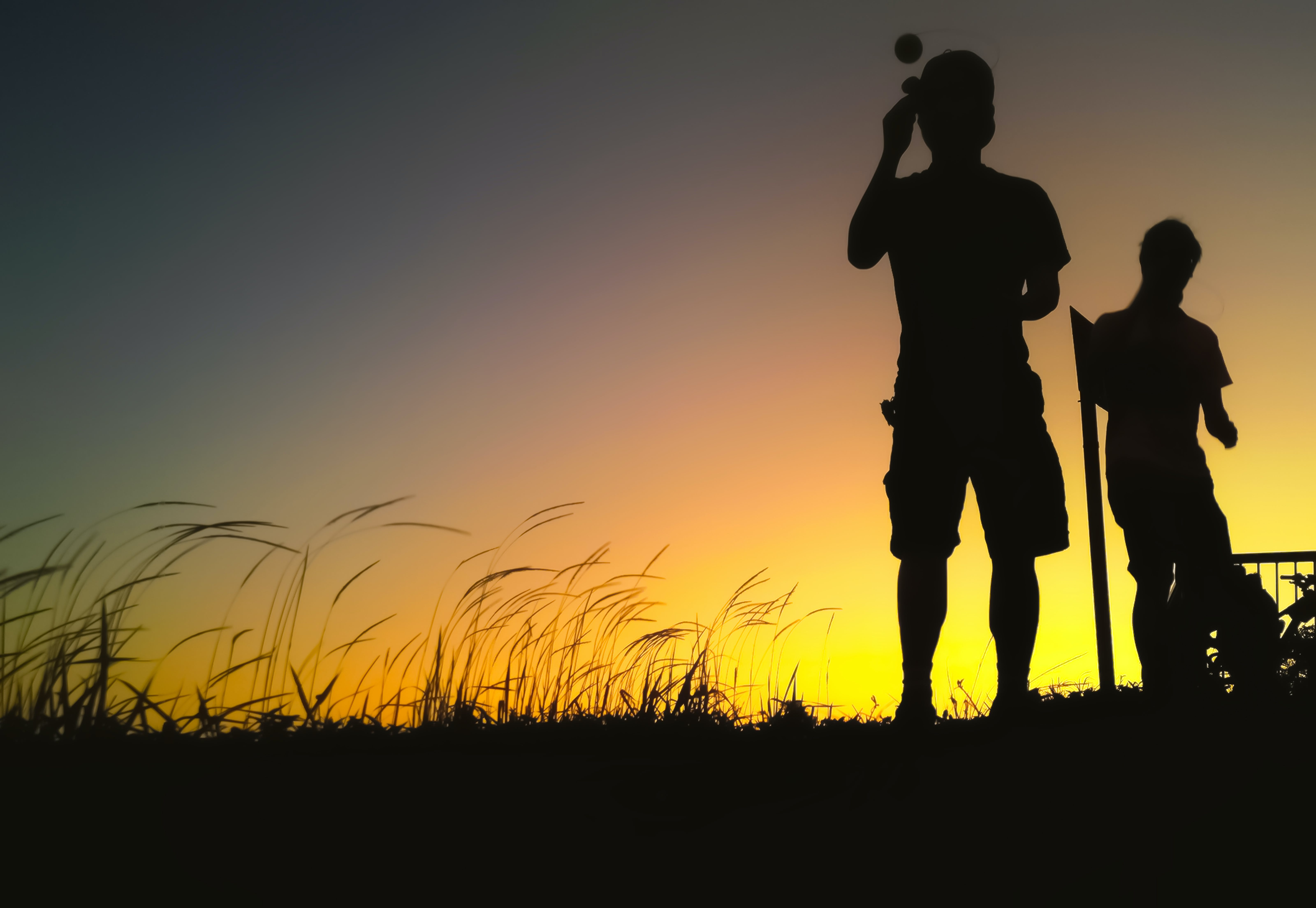 Silhouette Photography of Two People