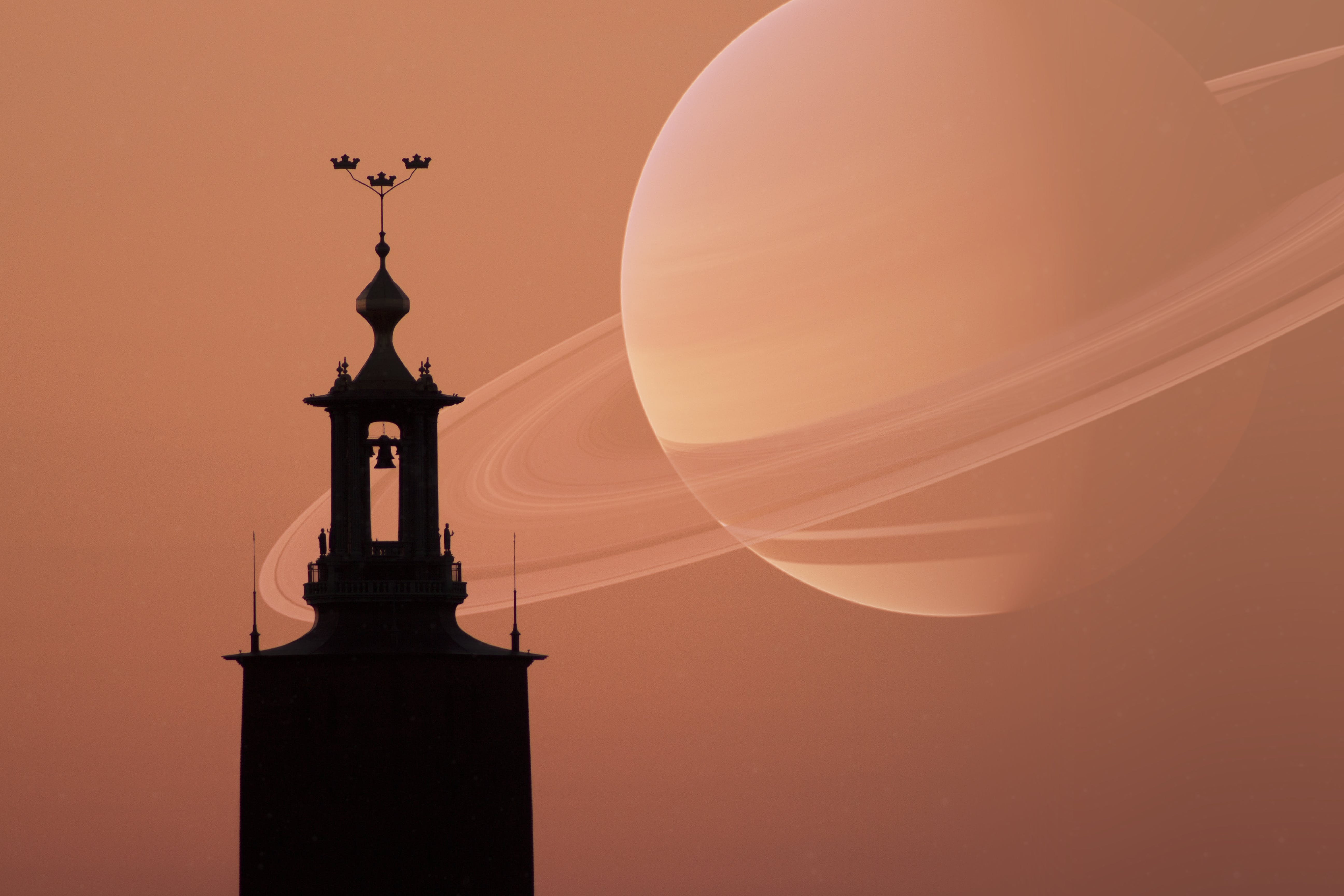 Free stock photo of outer space, planet, scandinavia, silhouette