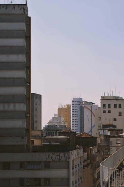Foto profissional grátis de céu, céu lilás, cidade, construção
